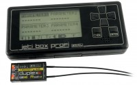 """Binding procedure of the receiver with the JETIBOX profi, both in the """"Telemetry"""" mode (U.S. version only)."""